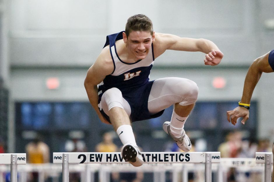 Tylor Seamans was a double-winner for Lyman Hall in its season-opening track and field victory over Cheshire on Thursday. | Justin Weekes / Special to the Record-Journal
