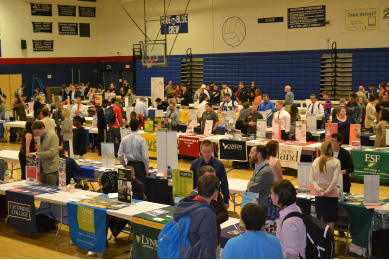 More than 100 colleges, universities, technical schools and branches of the military attended the recent Plainville High School College Fair.