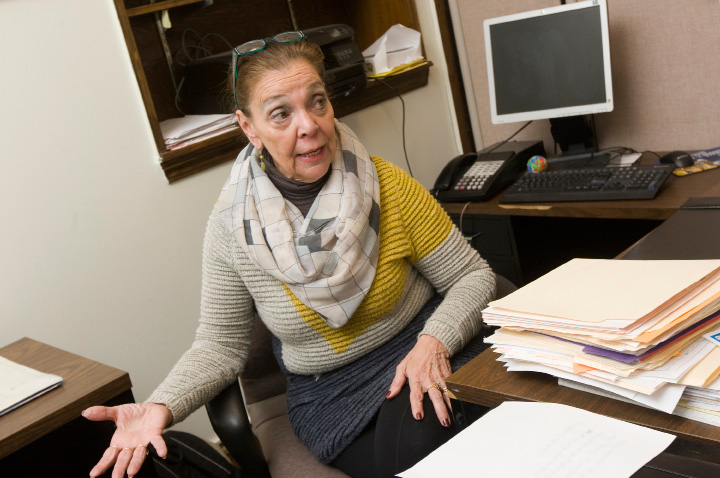 Jo-Ann Amantea, a clerk III with the Meriden Parks and Recreation Dept., is losing her job after more than 40 years of service, Wednesday, December 7, 2016.  | Dave Zajac, Record-Journal