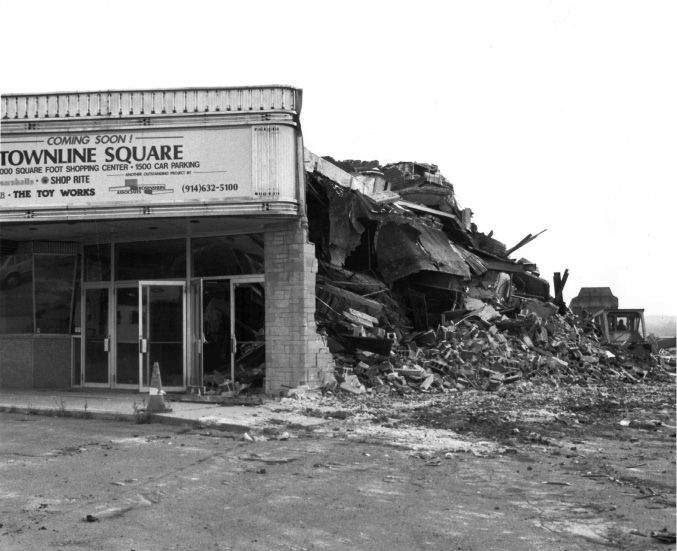 File photo - Meriden Twin Cinema being demolished to make way for Townline Square shopping plaza, October 1988.