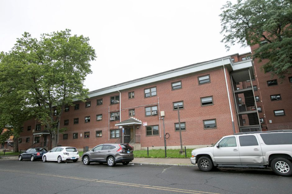 The Mills Memorial Apartments on Mill Street in Meriden, Friday, July 14, 2017. | Dave Zajac, Record-Journal