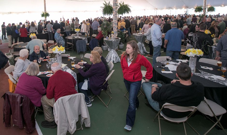 Hundreds attend the sponsors and volunteers appreciation dinner Thursday at Hubbard Park in Meriden. The event was in honor of those that helped make this weekend's Daffodil Festival possible.Photos by Dave Zajac, Record-Journal