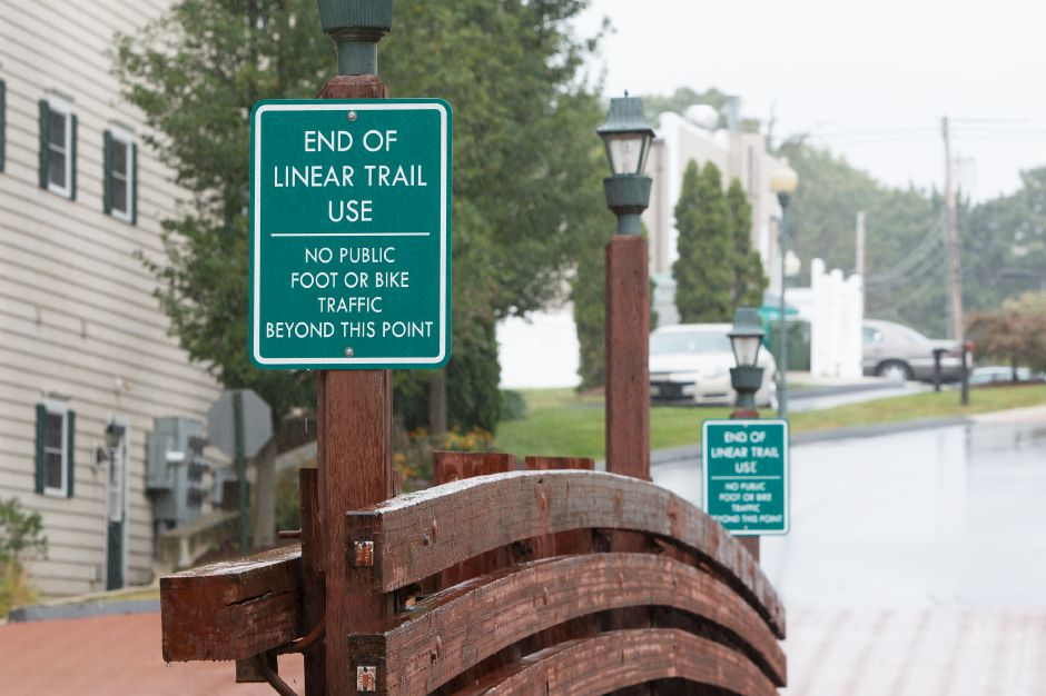 Wallingford has recently obtained a grant to provide a walkway from Fireworks Island Linear Trail to Main Street pictured Friday on the Quinnipiac Linear Trail in Wallingford September 7, 2018 | Justin Weekes / Special to the Record-Journal