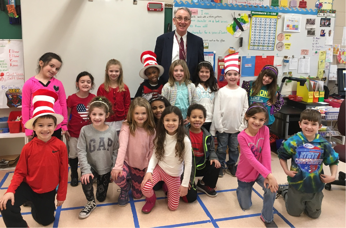 Students at Clintonville Elementary School welcomed 16 guest readers from the community on Read Across America Day, March 1. The program was created 20 years ago by the National Education Association and was developed to motivate children to read. It also marks the birthday of Theodor Seuss Geisel (Dr. Seuss).