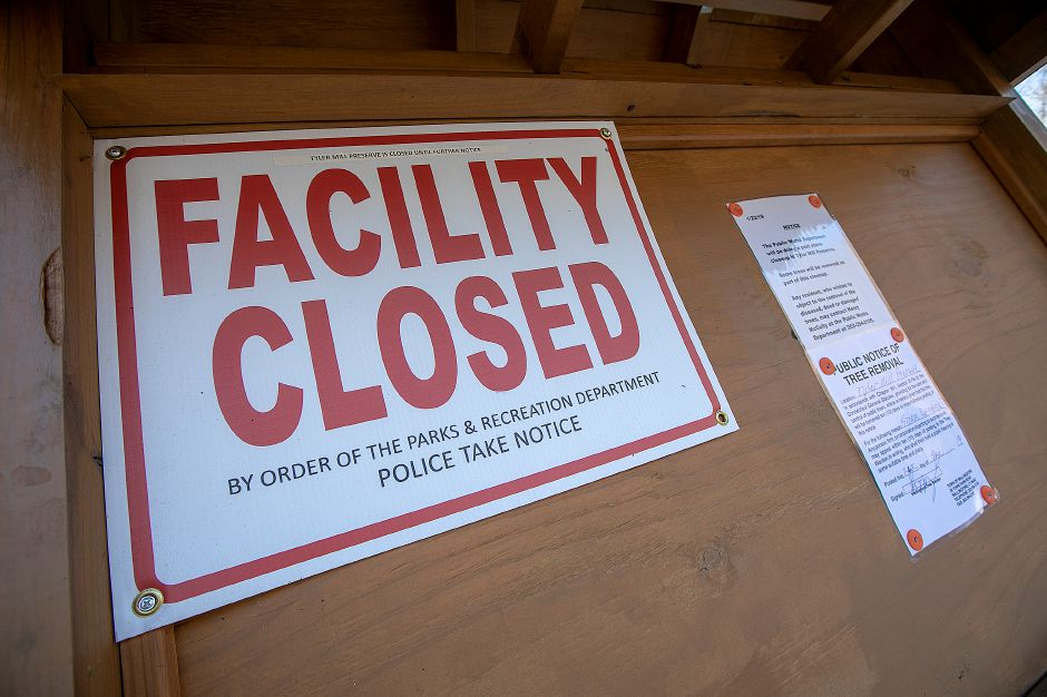 Tyler Mill Preserve in Wallingford remains closed, Tues., Feb. 19, 2019. Dave Zajac, Record-Journal
