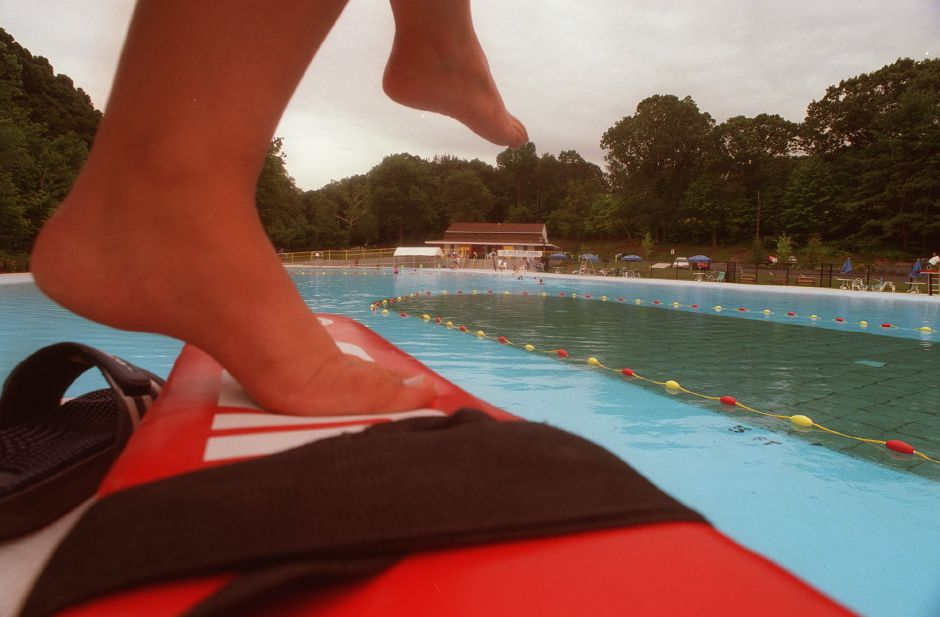 A view of the Community Pool in Wallingford Tuesday evening.