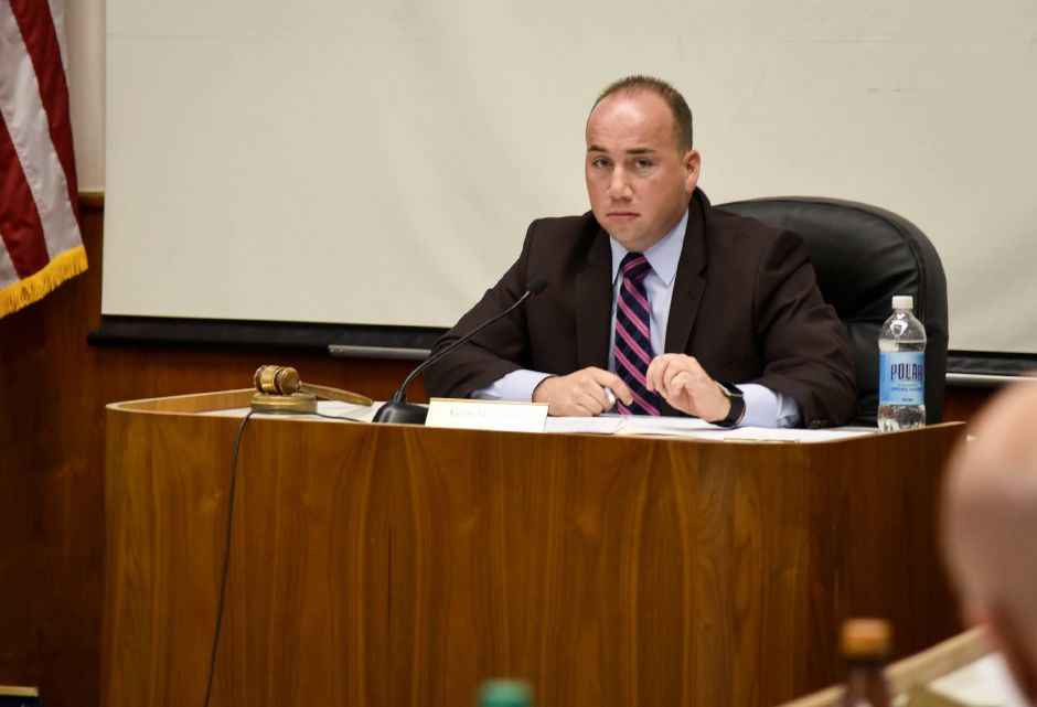 FILE PHOTO – Meriden Mayor Kevin Scarpati at a city council meeting on Monday, Dec. 18.