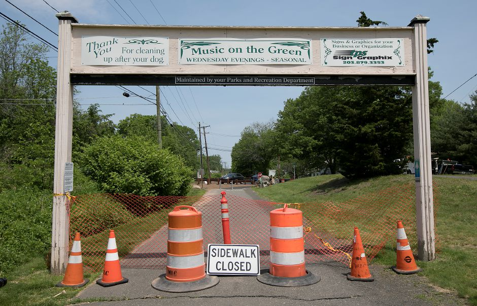The linear trail closed near the intersection of Hart and Curtiss Streets in Southington, Friday, May 25, 2018. Dave Zajac, Record-Journal