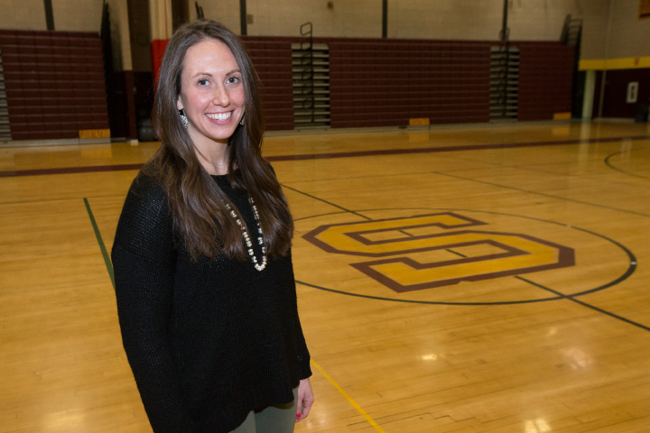Victoria Sperrazza, a former Sheehan volleyball player and an assistant coach in the program for the past two years, was appointed head coach of the Titans on Monday night. | Justin Weekes, Special to the Record-Journal