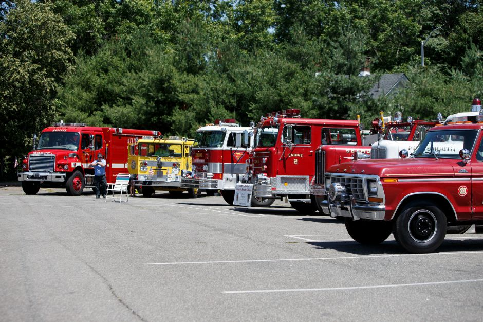 Fire equipment was on display from all over New England Saturday during the 9th Annual Silver City Fire Fest at Comfort Inn and Suites in Meriden July 21, 2018 | Justin Weekes / Special to the Record-Journal