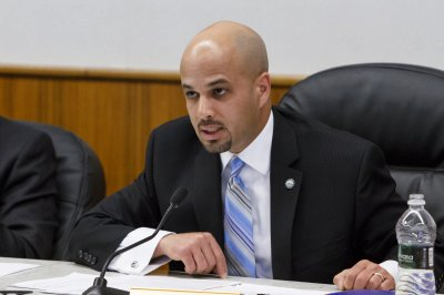 Miguel Castro Monday during the Meriden City Council meeting in Town Hall  May,5 2014 | Justin Weekes / For the Record-Journal