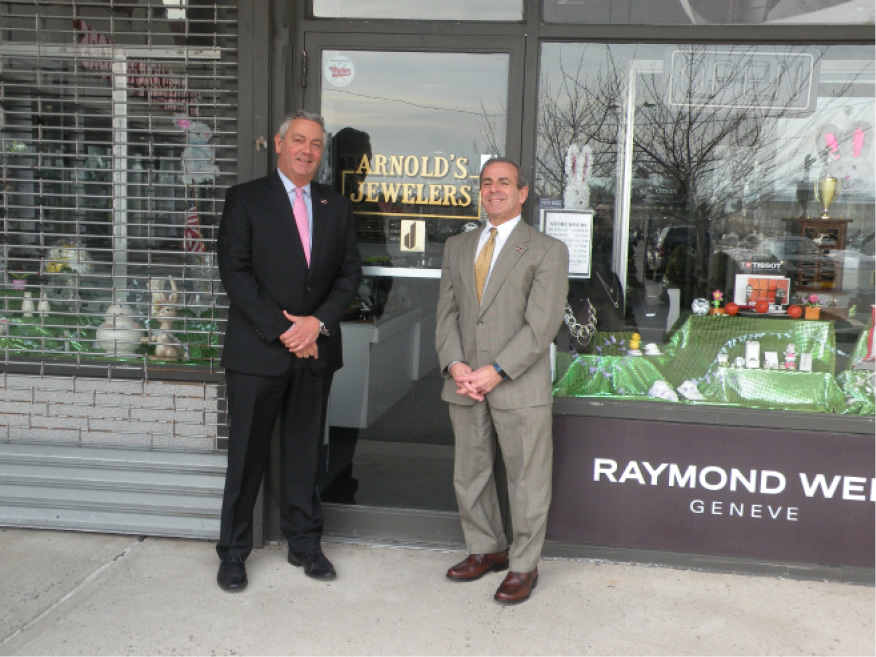 From left: Larry Lazaroff, owner of Arnold