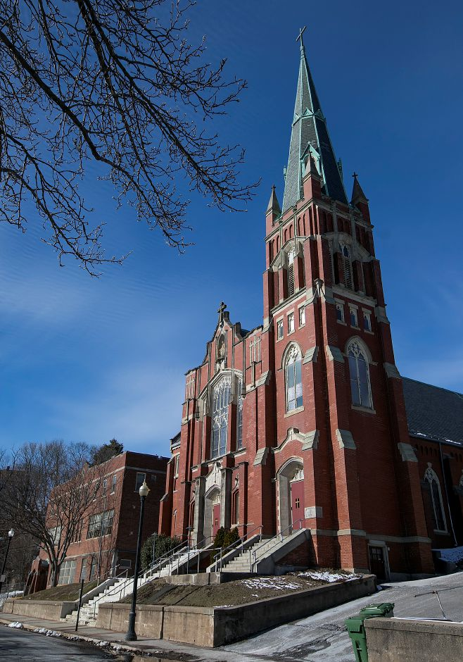 The former St. Mary Church on Church Street in Meriden, Wednesday, Jan. 31, 2018. The building is for sale. Dave Zajac, Record-Journal