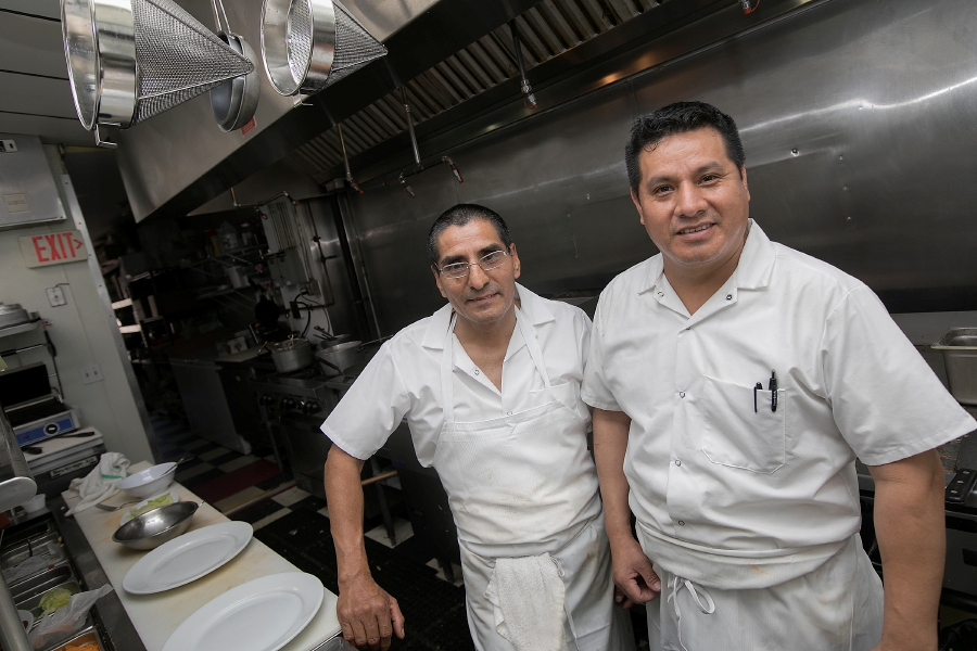 Segundo Fernandez, left, and brother, Remigio Fernandez, co-owners of Cheshire Place, a new breakfast and lunch restaurant at 532 W. Main St. in Cheshire, Wednesday, June 20, 2018. Dave Zajac, Record-Journal
