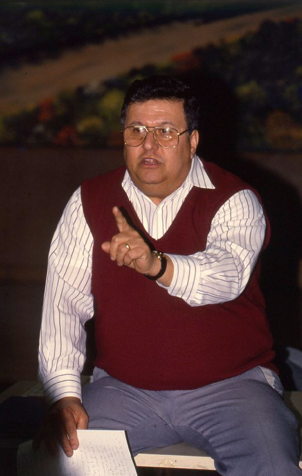 RJ file photo - Rafael Collazo, president of the Hispanic Action for Meriden at a meeting March 4, 1994 to plan a voter registration effort.