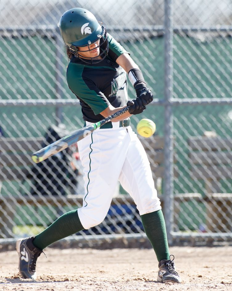 Milytza Perez earned the pitching win and cracked a triple in Maloney's 6-1 victory Wednesday over Bristol Eastern. | Justin Weekes / Special to the Record-Journal