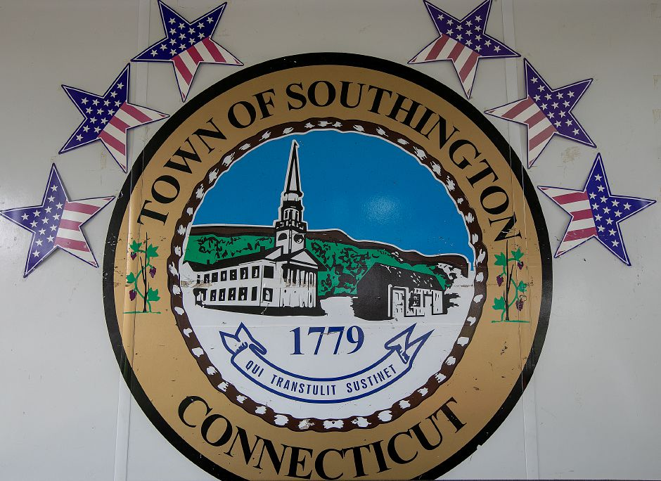 The Town of Southington seal seen on the town
