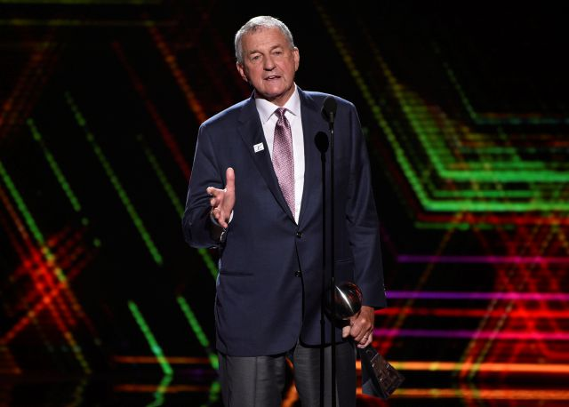 FILE - In this July 10, 2019 file photo, Jim Calhoun, men