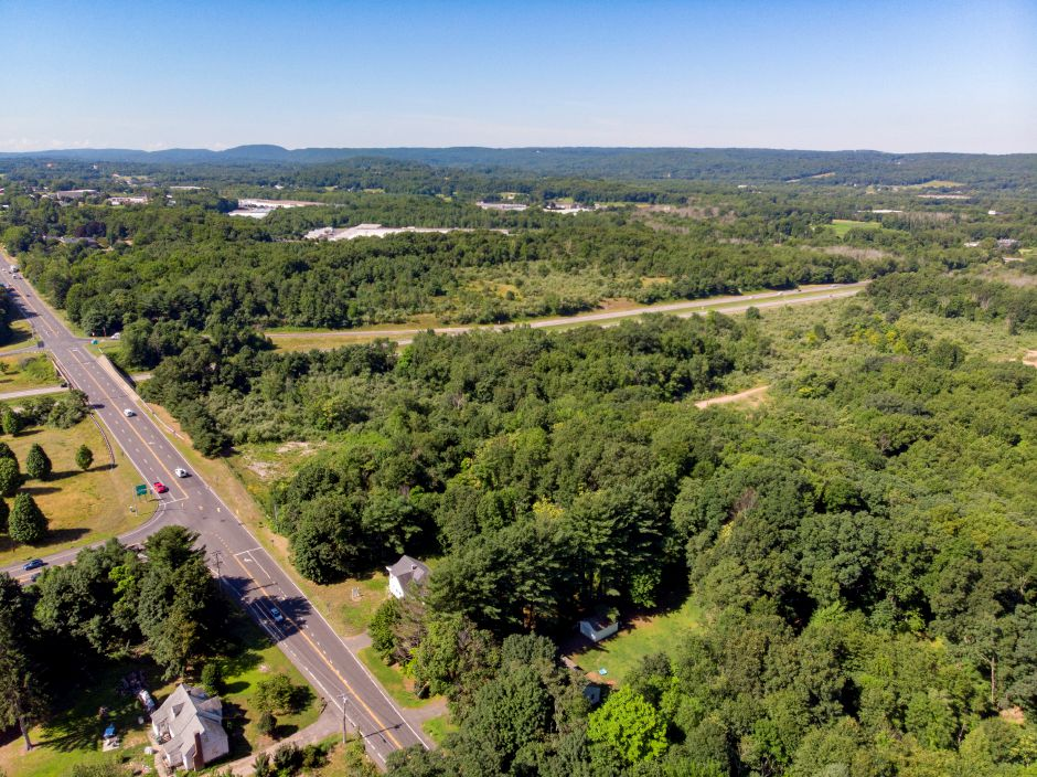A wooded area, in Cheshire off Route 10 near the Interstate 691 ramp. A proposed mall would have  been built on about 100 acres off Interstate 691. File photo, Record-Journal