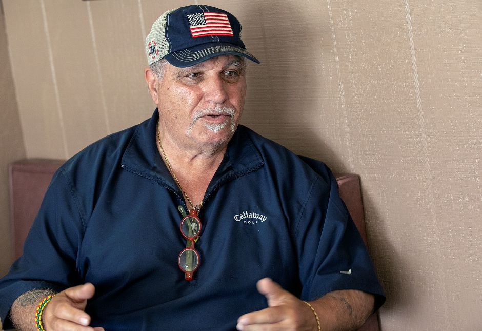 "Longtime city resident Renato ""Ray"" Maratea talks at Toms Place in South Meriden, Fri., May 24, 2019. Maratea is the grand marshal of this year's Memorial Day parade. Dave Zajac, Record-Journal"