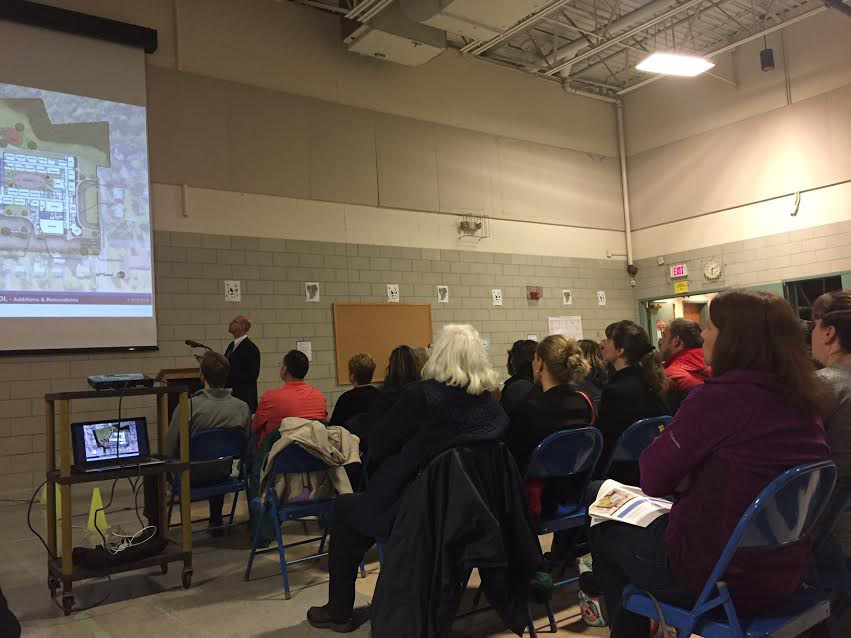 Residents attended an in-depth presentation about upcoming school projects in Plainville, Wednesday, March 1. | Ashley Kus, The Plainville Citizen