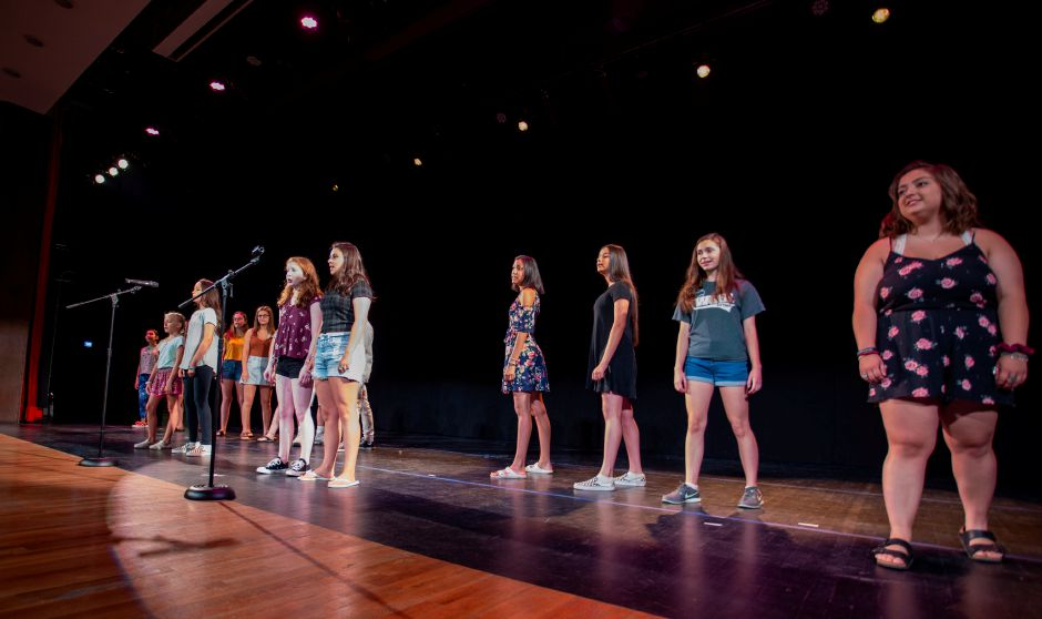 Students from the Junior Performance Academy rehearse at Sheehan High School July 10, 2019. | Richie Rathsack, Record-Journal