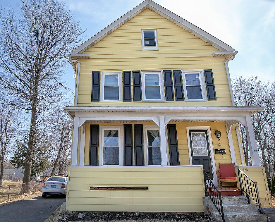A residence at 128 Gale Ave., in Meriden, Wed., Mar. 27, 2019. Some Gale Avenue neighbors have concerns over an approved retail development on Broad Street. The development will be behind this house on the lower left. Dave Zajac, Record-Journal