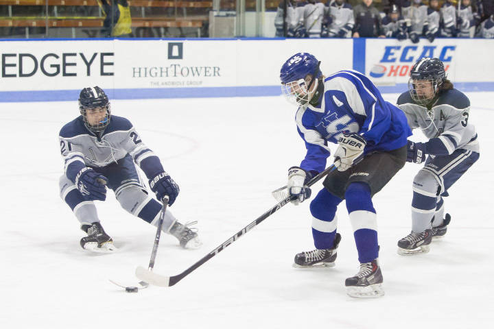 Thursday during the CIAC Division III semi finals at Ingalls Rink on the campus of Yale University in New Haven Mar. 16, 2017 | Justin Weekes / For the Record-Journal