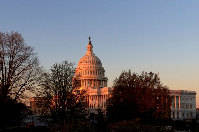FILE - In this April 5, 2017, file photo, the Capitol is seen at sunrise in Washington. At a time when many Americans say they