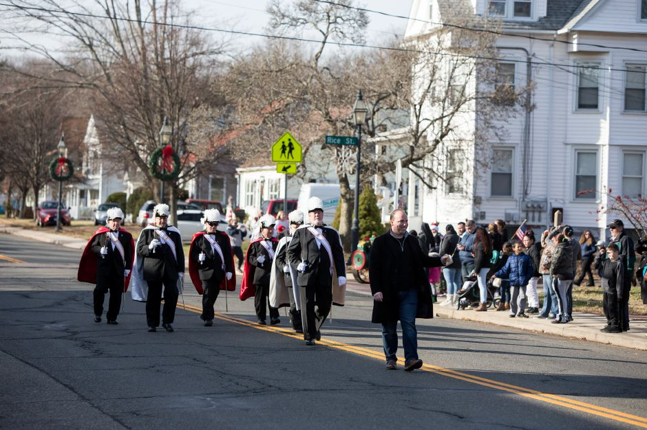 Holiday Parade Saturday during Christmas in the Village on Main Street in South Meriden December 1, 2018 | Justin Weekes / Special to the Record-Journal