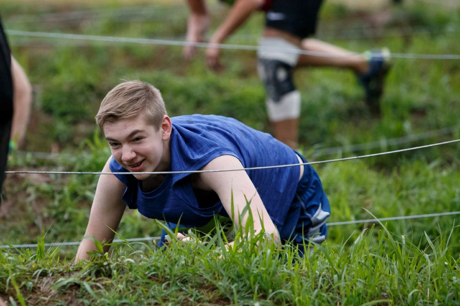 Saturday during the 5th annual Gaylord Gauntlet 5k Trail & Obstacle Race at Gaylord Hospital in Wallingford June 23, 2018 | Justin Weekes / Special to the Record-Journal