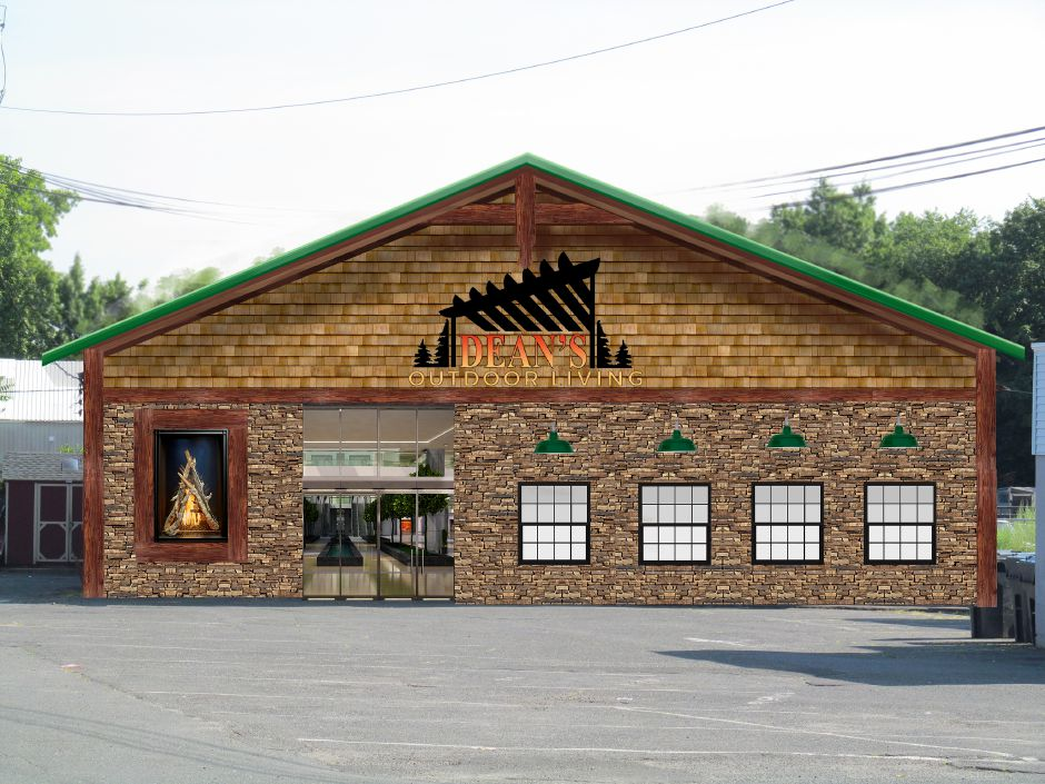 A rendering of a Plantsville building slated for renovation. It
