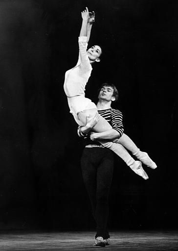 Ballet dancer Rudolph Nureyev and Dame Margot Fonteyn rehearse at the Theatre des Champs-Elysees, Paris, Nov. 17, 1965, for their star guest appearance with the Australian Ballet. (AP Photo)