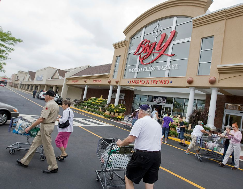 Big Y at Town Line Square shopping center in Meriden. Shoppers will pay a higher sales tax rate on far more than restaurant meals when a new 1% surcharge kicks in on Oct. 1, Republican lawmakers charged Thursday. | File photo.