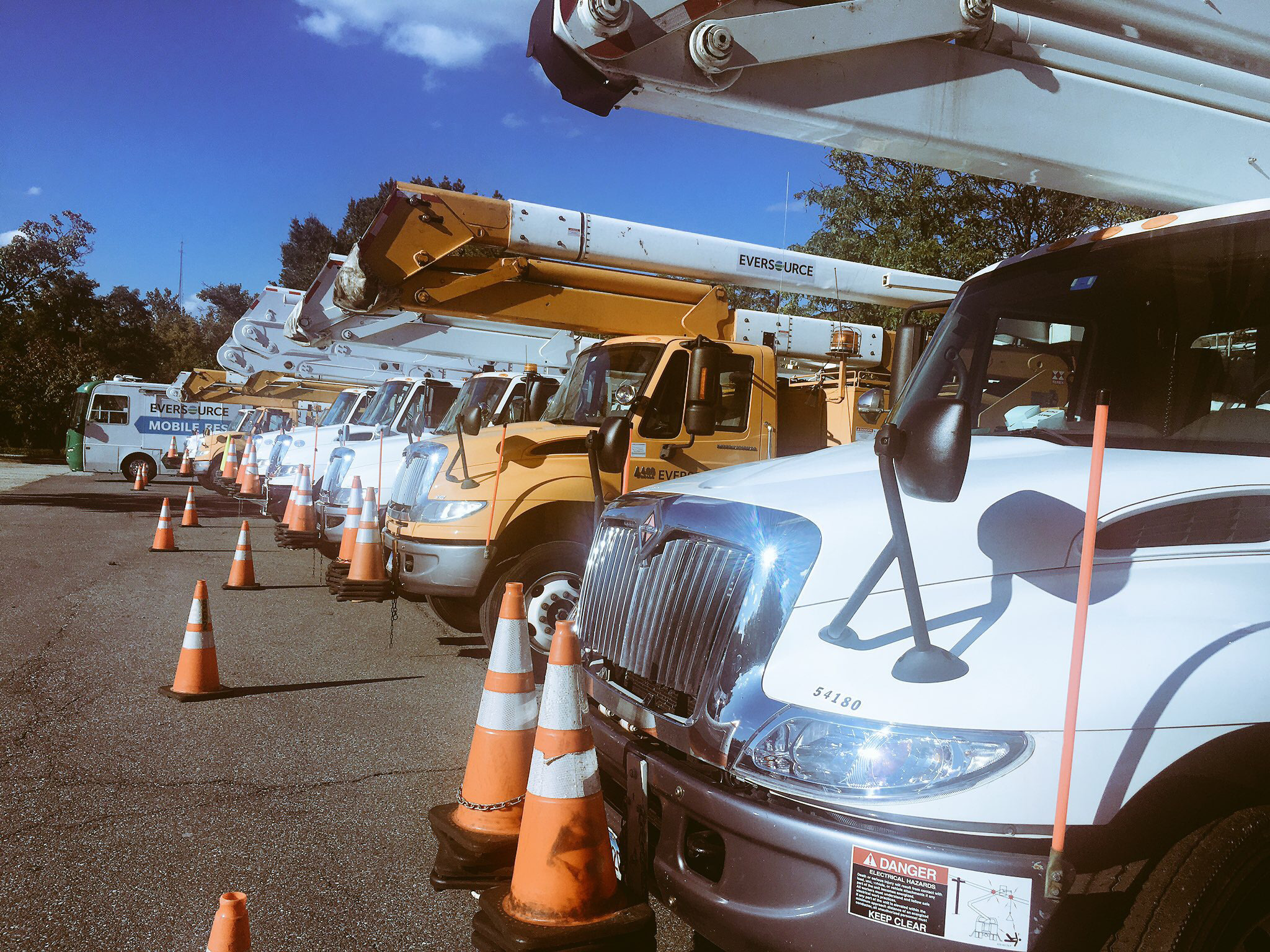 Line crews and staff from Eversource Energy in Connecticut headed south over the weekend with to help with Hurricane Irma recovery efforts. They'll be in Florida for up to two weeks. | Eversource Energy