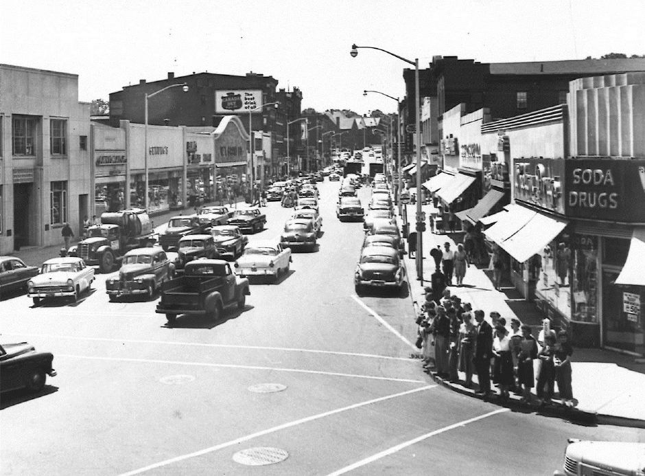 West Main Street in Meriden. 1950.