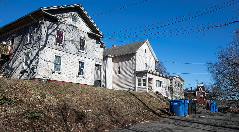 Houses on Maple Branch in Meriden, Tuesday, February 27, 2018. The Meriden Housing Authority has selected a development partner to build 45 market rate apartments on the corner of Maple Branch and Maple Street. Dave Zajac, Record-Journal