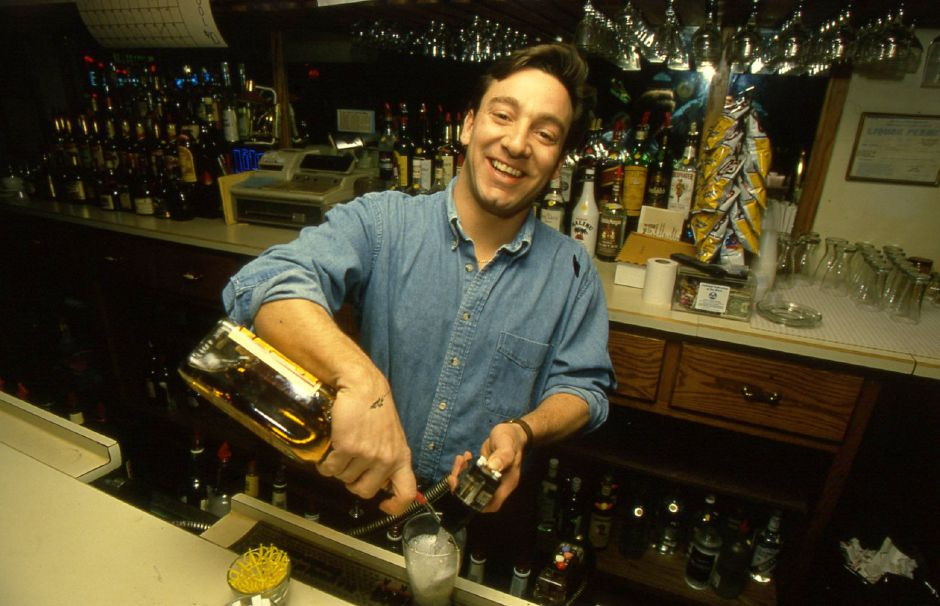 RJ file photo - Peter Wodatch, the bartender/mailman at Mauri