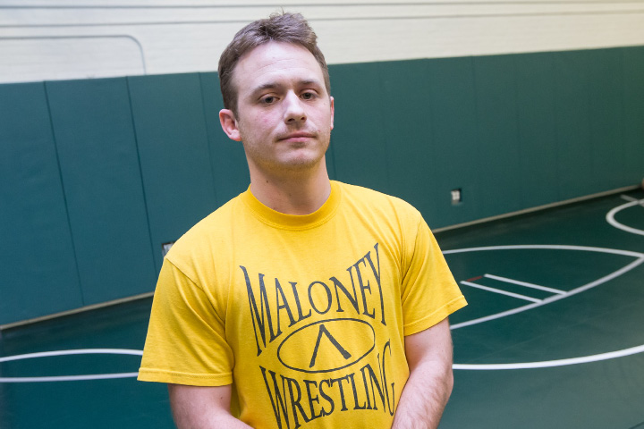 Eric Bergeron takes over as Maloney's new wrestling coach.  | Justin Weekes, Special to the Record-Journal