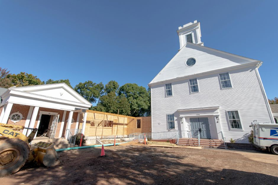 Upgrades at Kensington Congregational Church are an estimated four months from completion. A new kitchen is being added to the Parish Hall, along with additional bathrooms, an elevator and a second attachment connecting the hall with the church