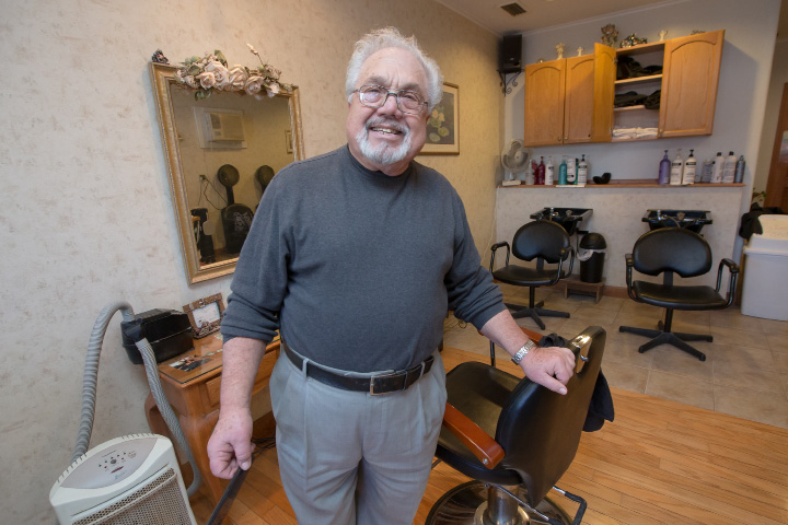 Barber Tom Zappala has been a barber in Wallingford for 62 years. He retired Friday, Dec. 30, 2016. | Justin Weekes / For the Record-Journal