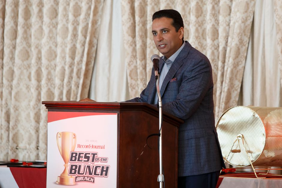 ESPN's Kevin Negandhi delivers his keynote speech Sunday during the third annual Record-Journal Best of the Bunch Brunch at the Aqua Turf Club in Plantsville.