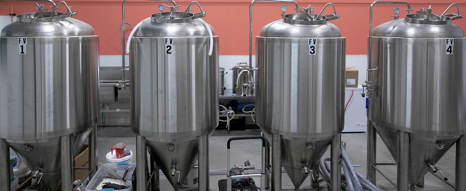 Fermenters at Skygazer, a new brewery nearing completion on Triano Drive in Southington, Thurs. Dec. 6, 2018. Brewery owners Taylor Pilewski of Wallingford and Erik Tynik of Bristol said they'll focus on brewing and have a small tasting area rather than attempt the brew pub business model. Dave Zajac, Record-Journal