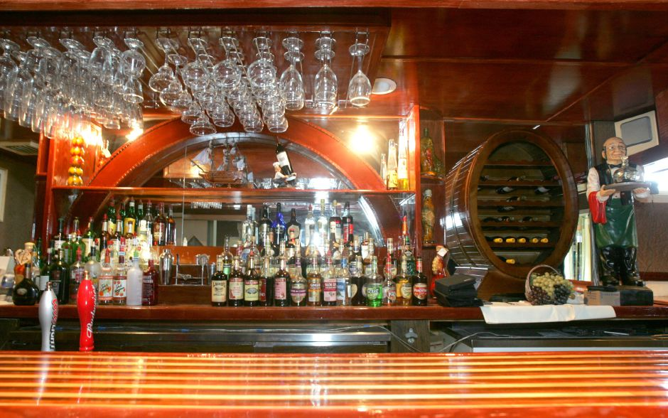 This is the bar inside the new restaurant, Emilio