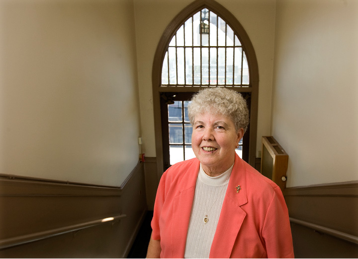 Sr. Georgeann Vumbaco, pastoral associate at St. Joseph Parish in Meriden, Wednesday, October 5, 2016. Sr. Georgeann Vumbaco is celebrating 40 years at St. Joseph School and Parish.  | Dave Zajac, Record-Journal