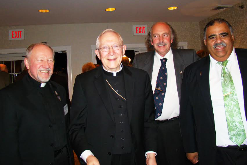 Fr. Gerald Dziedzic, Archibishop Leonard Blair, Sir John Dalton and Sir Felix Pagan.