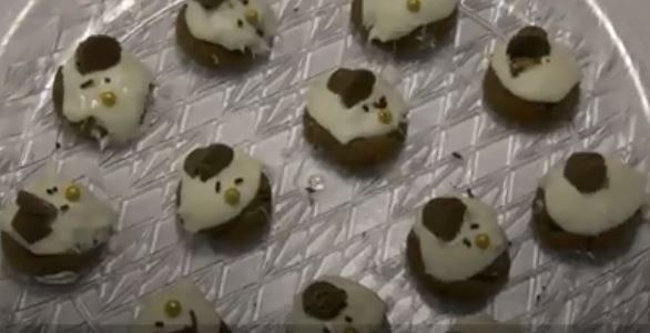 """Melted snowman"" cookies.Lauren Sievert, Record-Journal"