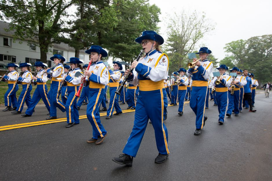 Moran Middle School Marching Band Monday during Wallingford