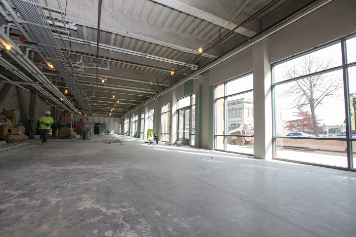 The interior retail space at 24 Colony St. will be divided to suit retailers' needs.