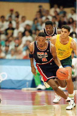 super popular 79620 0002d U.S. Olympic basketball team player Scottie Pippen is seen driving down the  court Friday night,